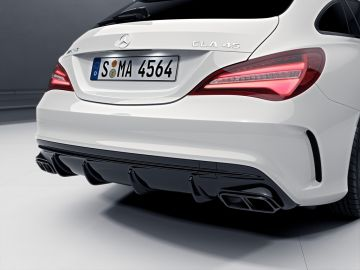 Original Mercedes-Benz CLA 45 CLA45 AMG Shooting Brake Heckdiffusor Diffusor Nightpaket 117