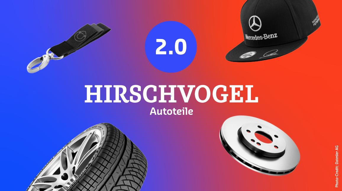Hirschvogel Autoteile 2.0 — ein neuer Shop für unsere Original Mercedes-Benz Ersatzteile